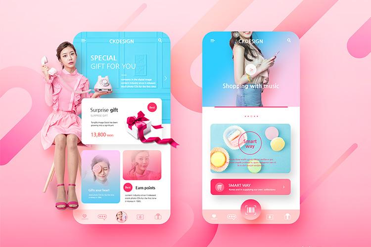 美食甜品饮品手机无线移动电商界面