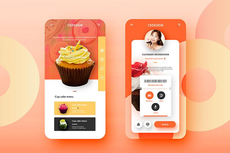 美食外卖订购智能手机应用电商海报